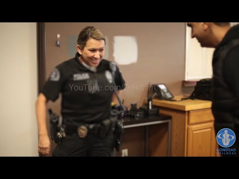 POLICE officers with back and neck PAIN get ADJUSTED - Dr. Rahim Chiropractic