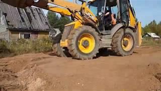 Строительство дома. Выборка плодородного грунта ,планировка насыпи пгс. Работа строительной техники.