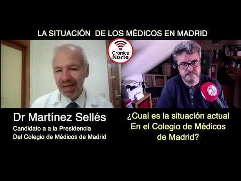 Entrevista el Doctor Martínez Sellés, candidato a la presidencia del colegio de Médicos de madrid
