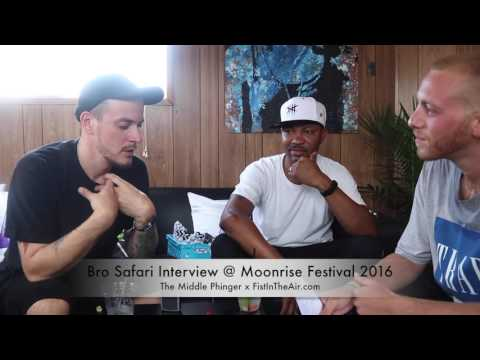 Bro Safari Interview @ Moonrise Festival 2016