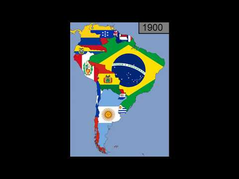 South America: Timeline Of National Flags: 1600 - 2018