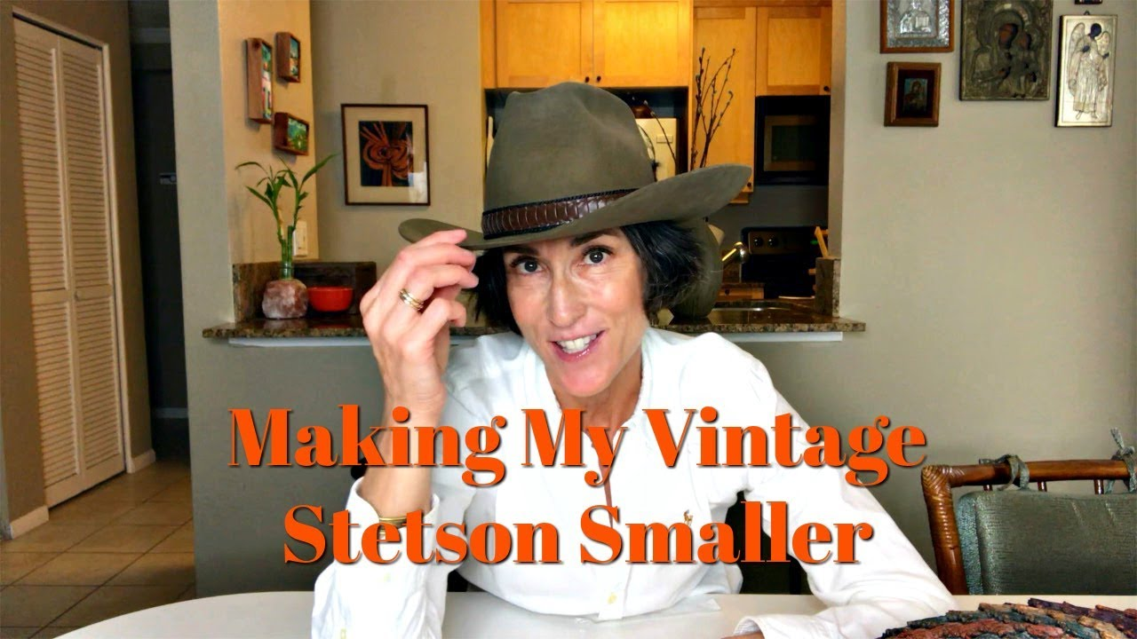 8ca17ee8cb2 How To Make A Cowboy Hat Smaller ~ Resizing My Stetson - YouTube