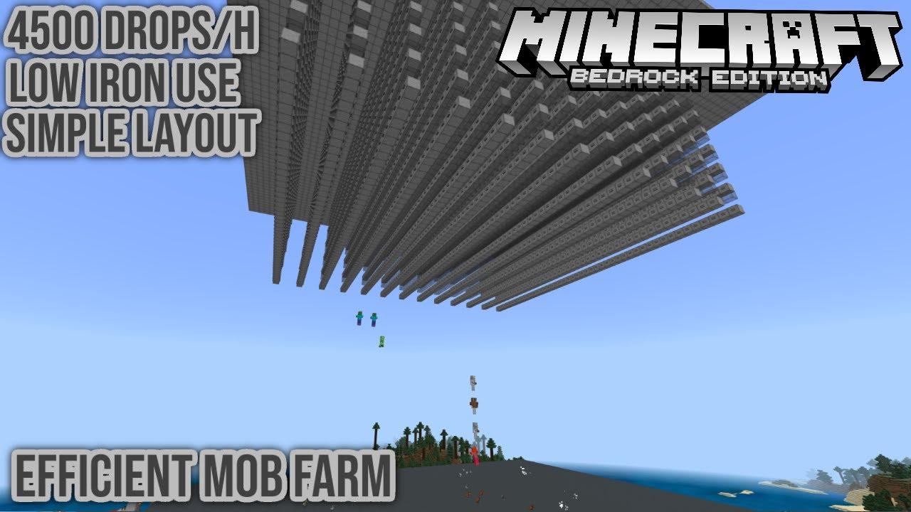 Efficient Working Hostile Mob Farm Minecraft Bedrock Tutorial 1 16