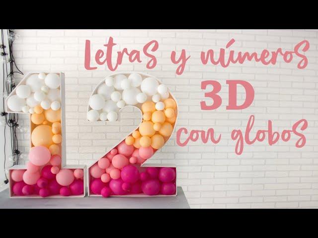 Letras Y Números Gigantes 3d De Cartón Pluma Para Rellenar Con Globos Youtube
