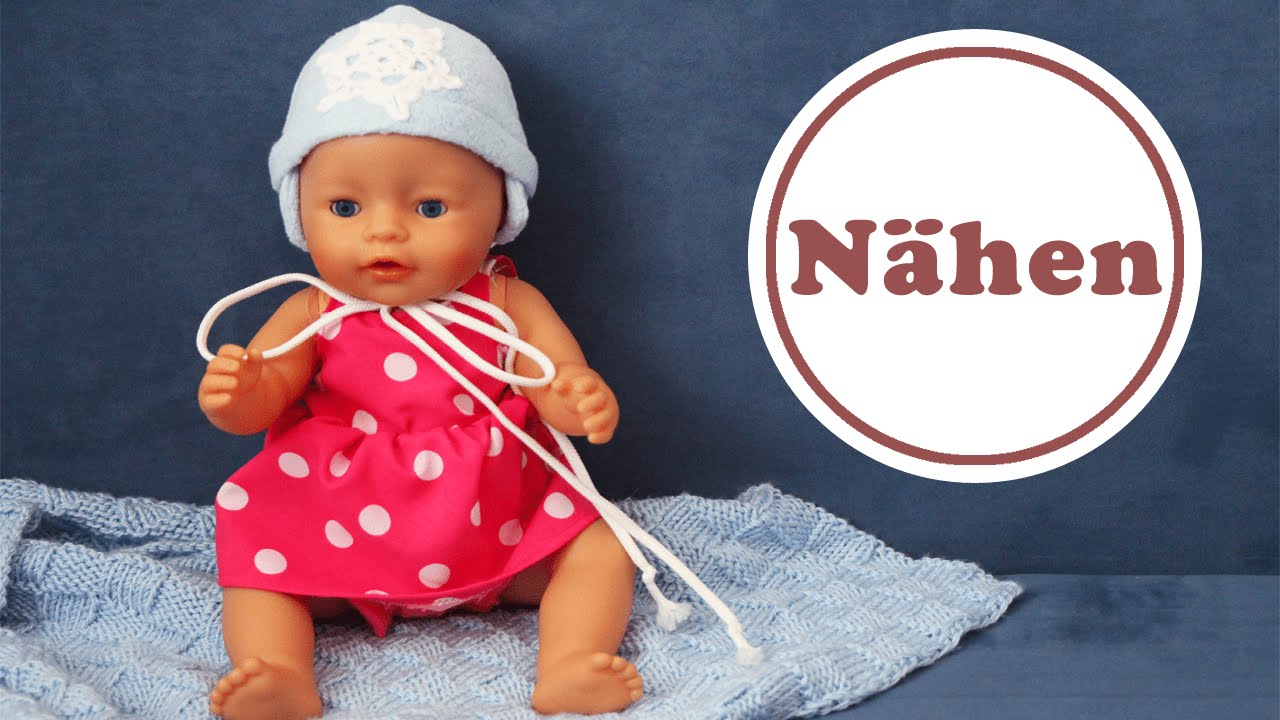 Baby Born Mütze selber nähen | Schnittmuster gratis - YouTube