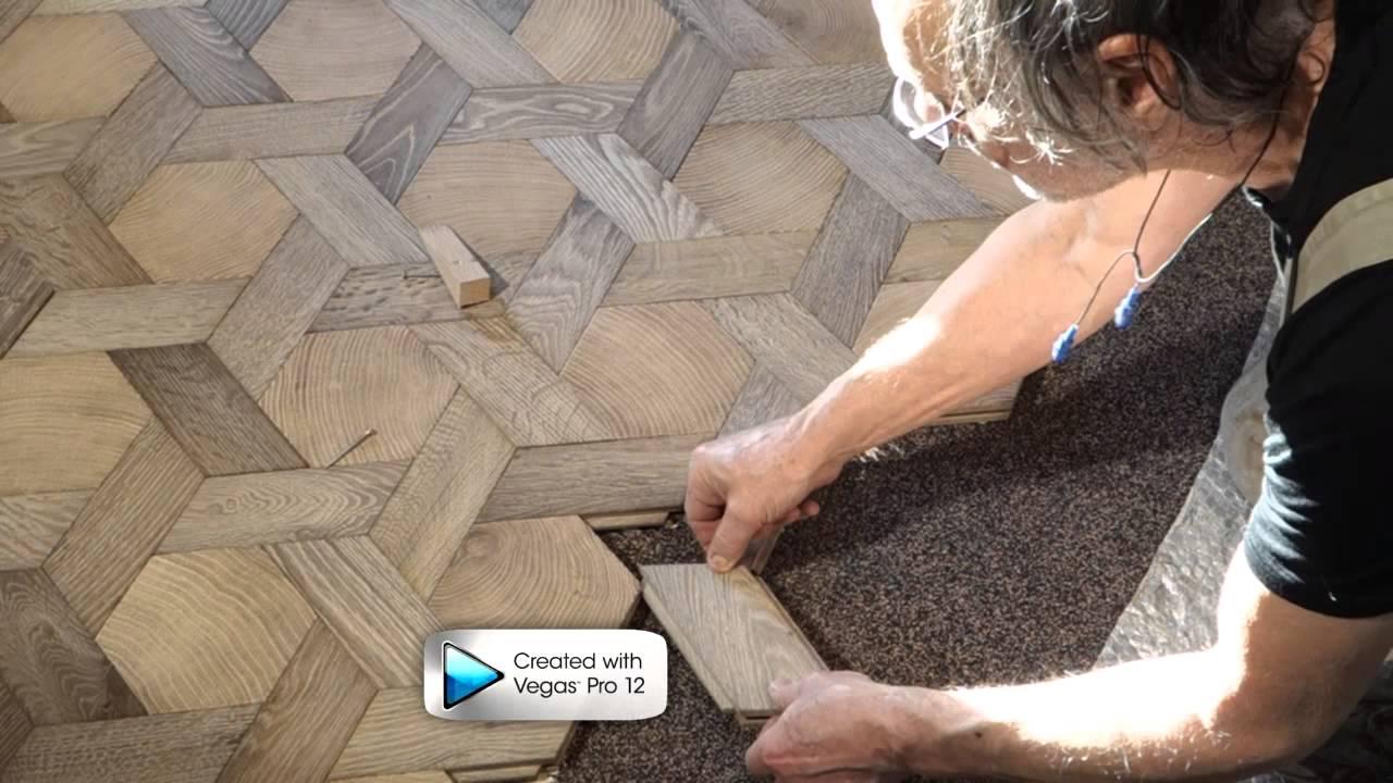 Pose De Pavés Bois Debout En Hexagone / Laying End Grain Wood Flooring    YouTube