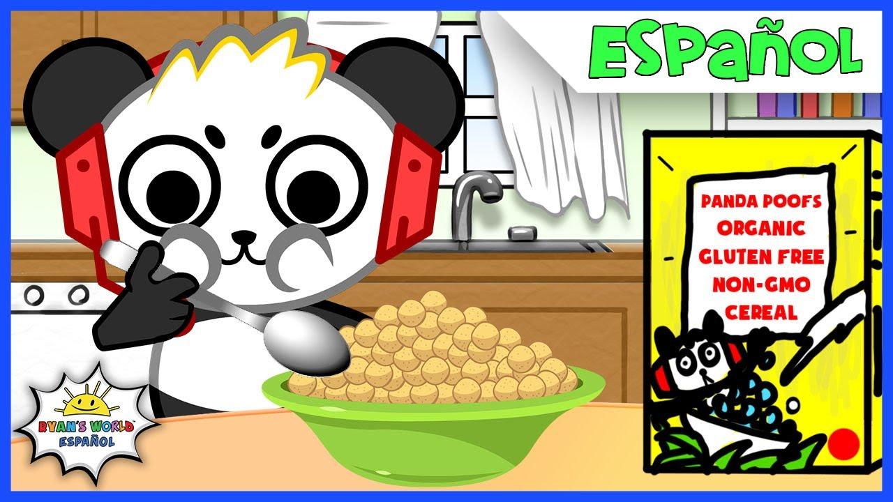 La Rutina de la Mañana y De Regreso a la Escuela con Combo Panda + Ryan de Ryan's World