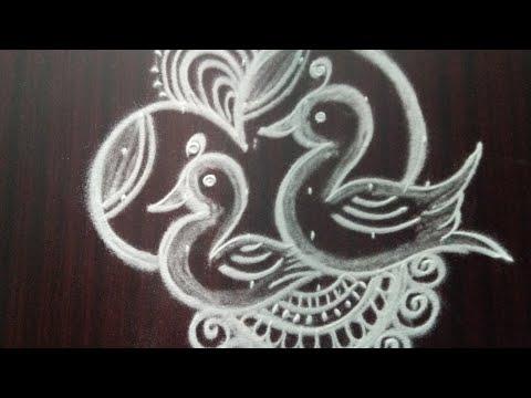 Latest unique birds rangoli designs with 6x2dots #rangolidesigns #kolamdesigns #mugguludesigns #rang
