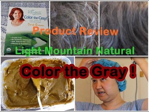 Natural Hair Dye Light Mountain Natural | Color the Gray | Product ...