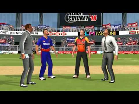 10th May IPL 11 Sunrisers Hyderabad Vs Delhi Daredevils Real cricket 2018 mobile Gameplay - 동영상