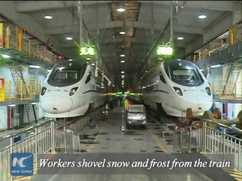 How China's high-speed trains run in extreme cold