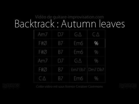 Autumn leaves : Backing track