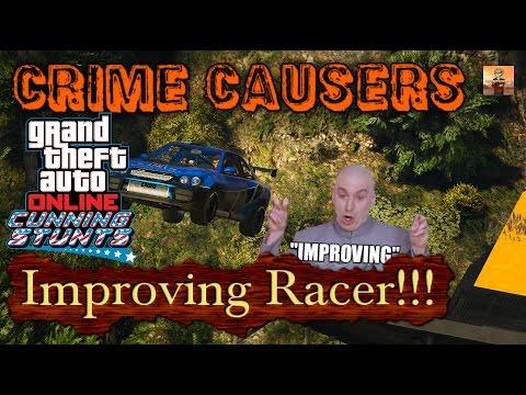 GTA V Crime Causers Episode #11: Improving Racer!!! (GTA Online Cunning Stunts)