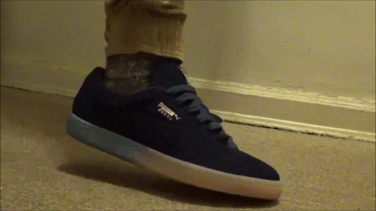 Pink Dolphin X Puma Suede On Feet Look - YouTube 2b29df01a