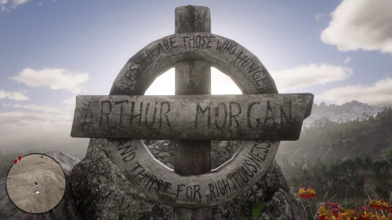 red dead redemption 2 john marston visits arthur morgan s grave