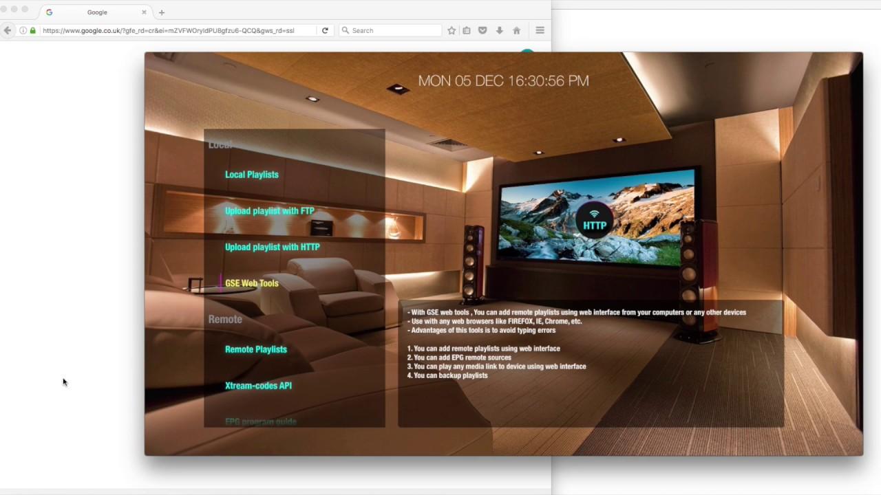 GSE SMART IPTV APPLE TV 4 WEB INTERFACE PLAYLIST MANAGEMENT PREVIEW
