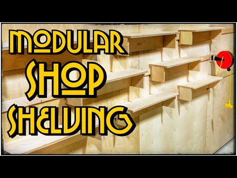 FRENCH CLEAT SHOP SHELVES | One Sheet Of Plywood | A Glimpse Inside How To