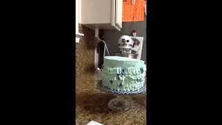 mermaid cake time lapse