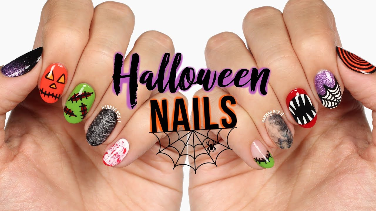 New Nail Art 2018 10 Halloween Nail Art Design Compilation