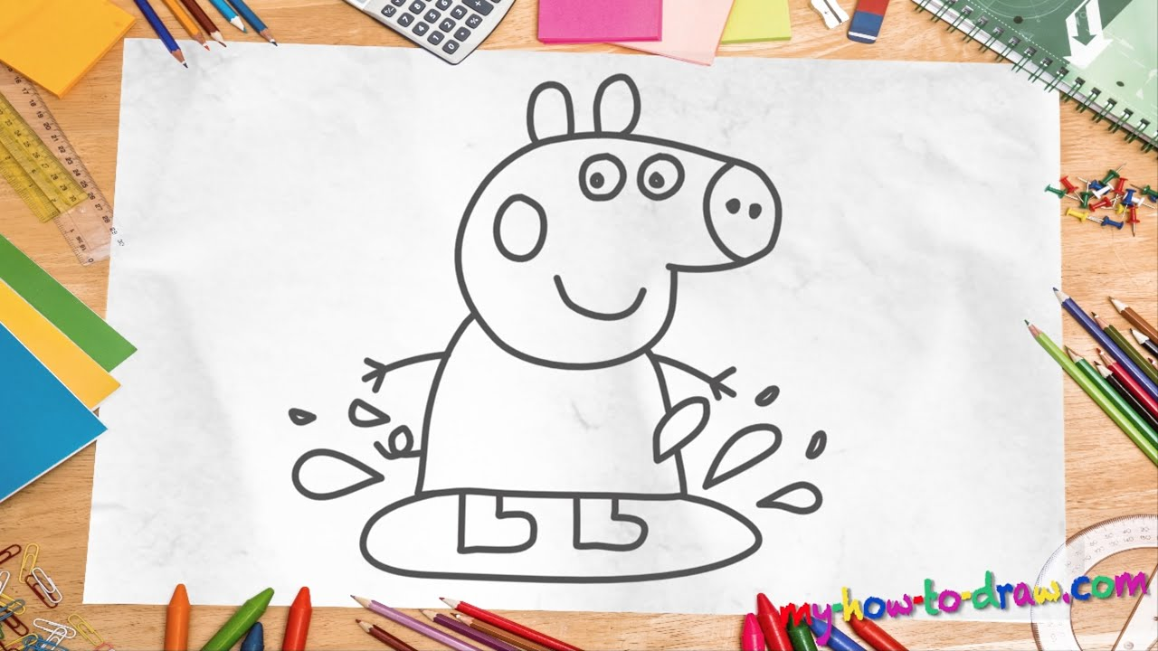 how to draw peppa pig easy step by step drawing lessons for kids