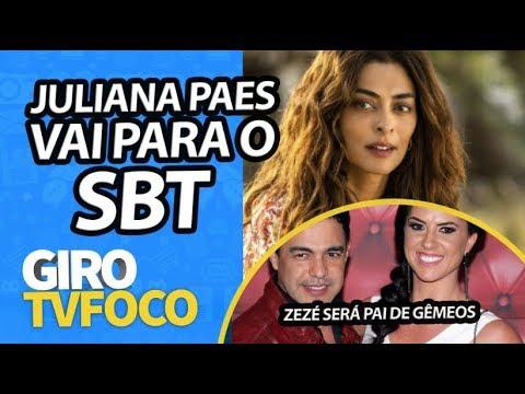 GIRO TVFOCO: Juliana Paes fecha contrato com Silvio Santos e vai parar no SBT