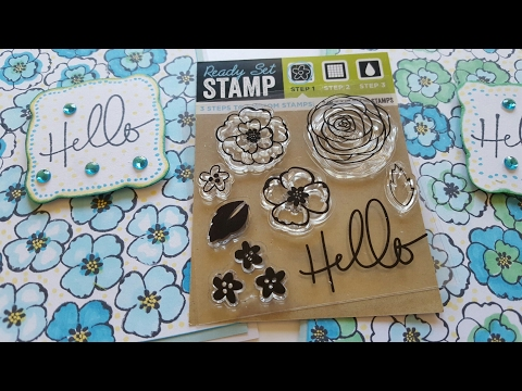 Dollar Tree Clear Stamp Set | Greeting Card | Let's See How It Works!