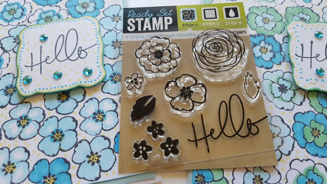 Dollar Tree Clear Stamp Set Greeting Card Lets See How It Works