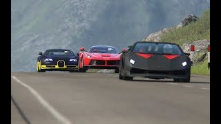 bugatti Veyron 16.4 vs Ferrari LaFerrari vs McLaren P1 vs Lamborghini Sesto Elemento