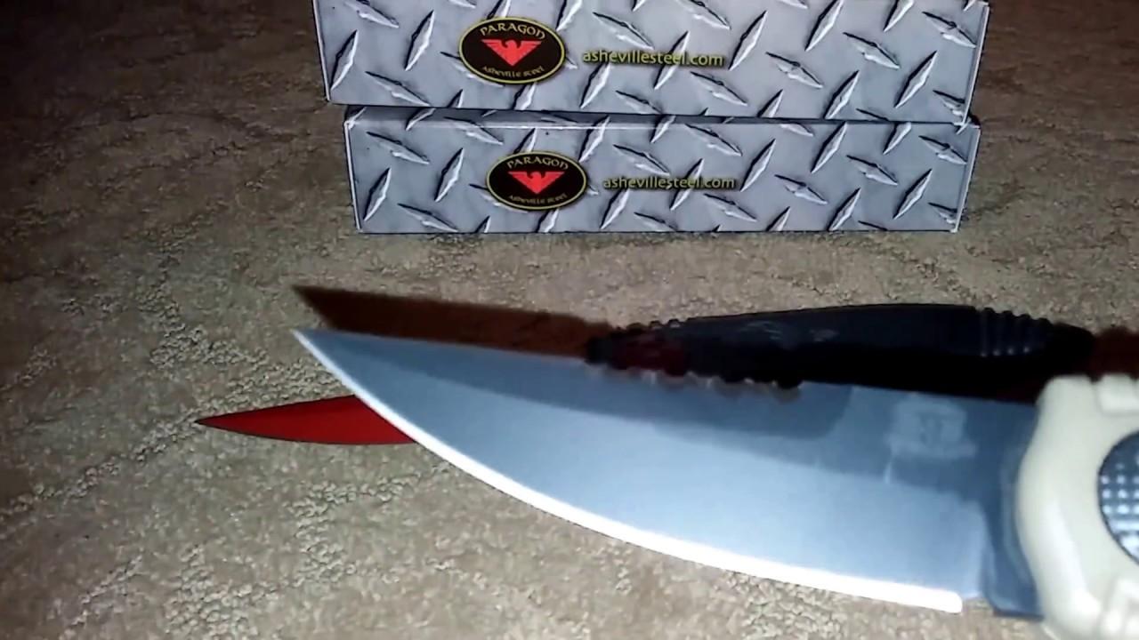 new asheville steel paragon knives phoenix knife