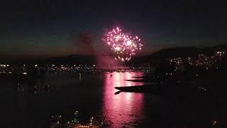 Vancouver EVENT: 2018 HONDA CELEBRATION OF LIGHT Sweden Fireworks Seen from Burrard St Bridge