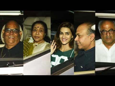 Kriti Sanon, Sanjay Dutt, Arjun Kapoor, Boney Kapoor & Ashotosh Gowariker Attend Panipat Screening Mp3