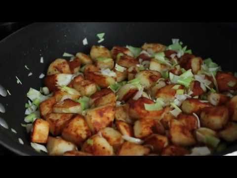 Duck Fat Potato Homefries - Green Garlic Duck Fat Home Fries Recipe