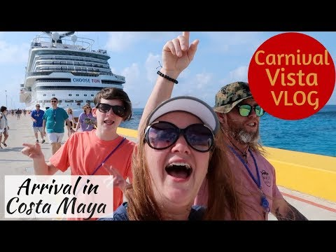 Arrival In Costa Maya & Tropicante Beach Club At Mahahual - Carnival Vista Vlog