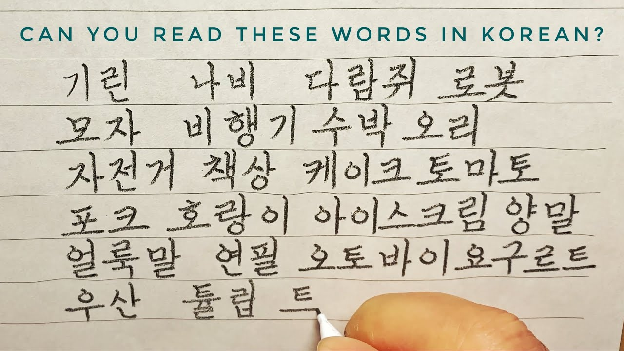 Beautiful and Perfect Hangul(Korean) Handwriting with a Mechanical Pencil  /Can You Read These Words?