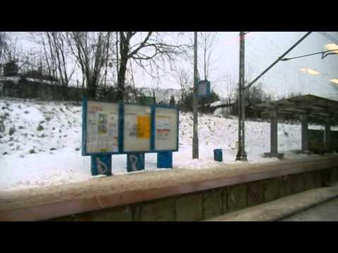 SKM train ride from Warszawa Śródmieście to Warsaw Chopin Airport - Warsaw, 02.02.2014