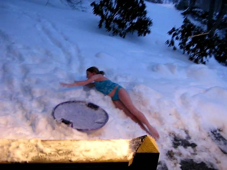 hot tub snow dive youtube. Black Bedroom Furniture Sets. Home Design Ideas