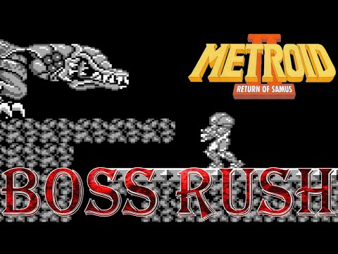 Metroid II: Return of Samus - Boss Rush (All Boss Fights)