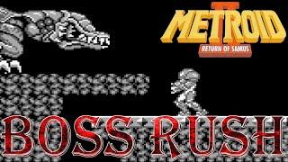Metroid II: Return of Samus - Boss Rush (All Boss Fights)