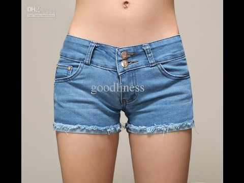 Women's Denim Shorts Photos _ Fashion Tips - YouTube