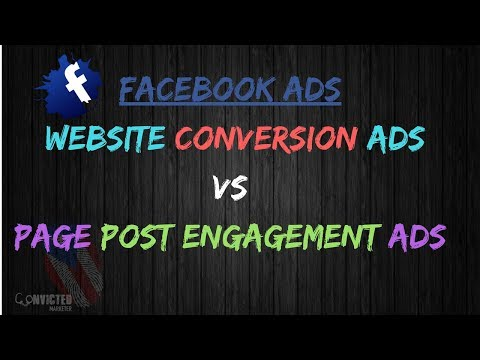 Which Facebook ad campaign is best to run page post engagement ads or website conversion ads