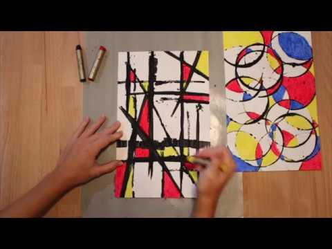 Lucy Loves Art: Piet Mondrain Printmaking Project