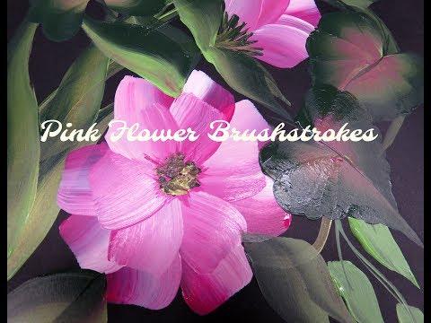 Pink Flower Brushstrokes | Easy Painting Ideas | Tutorial | Aressa | 2018