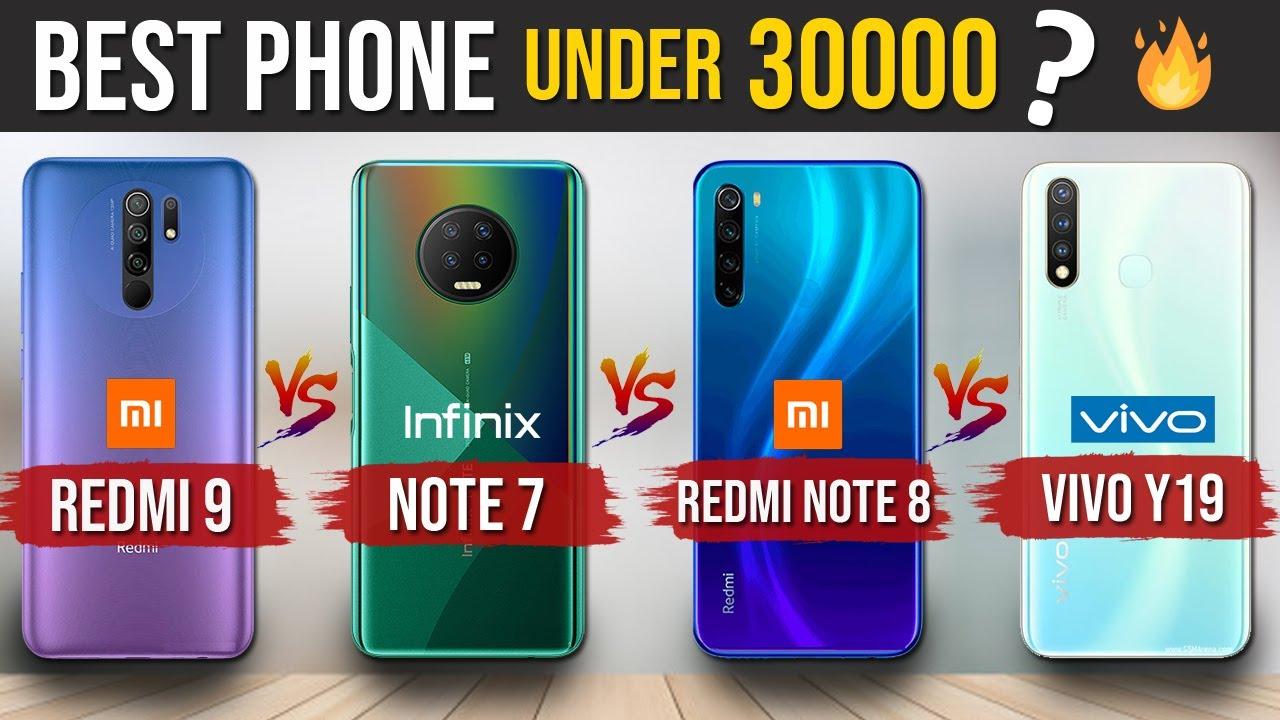 Redmi 9 vs Infinix Note 7 vs Redmi Note 8 vs Vivo Y19 - Best Phone Under 30000?