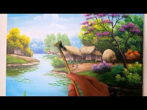Học vẽ cơ bản tranh phong cảnh (Phần 1) dạy vẽ tranh miễn phí TT Mỹ Thuật Việt