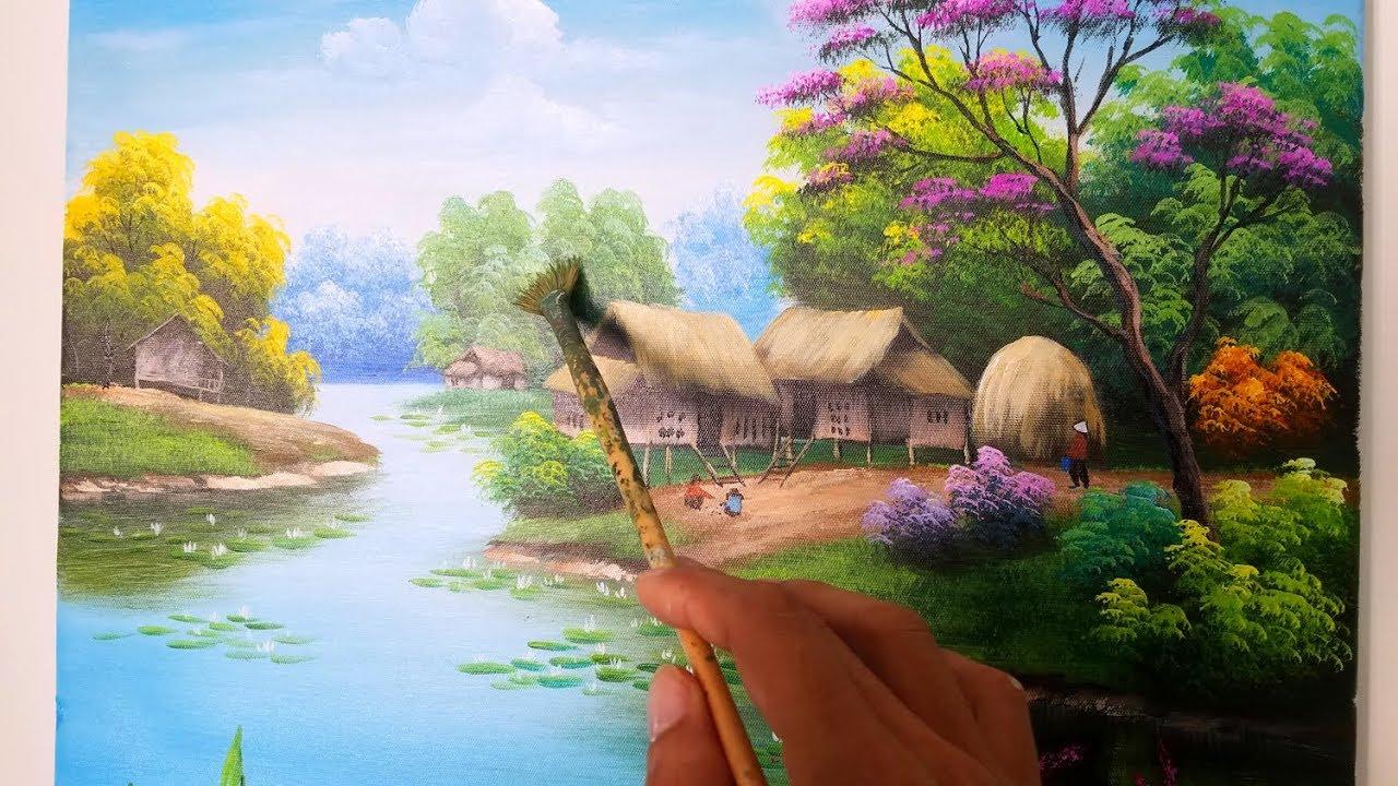 Học vẽ cơ bản tranh phong cảnh (Phần 1) dạy vẽ tranh miễn phí TT Mỹ Thuật Việt | Bao quát những tài liệu liên quan đến học vẽ phong cảnh đúng nhất