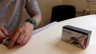 Playing Kin-Dza-Dza theme using Kikkerland Music Box Kit