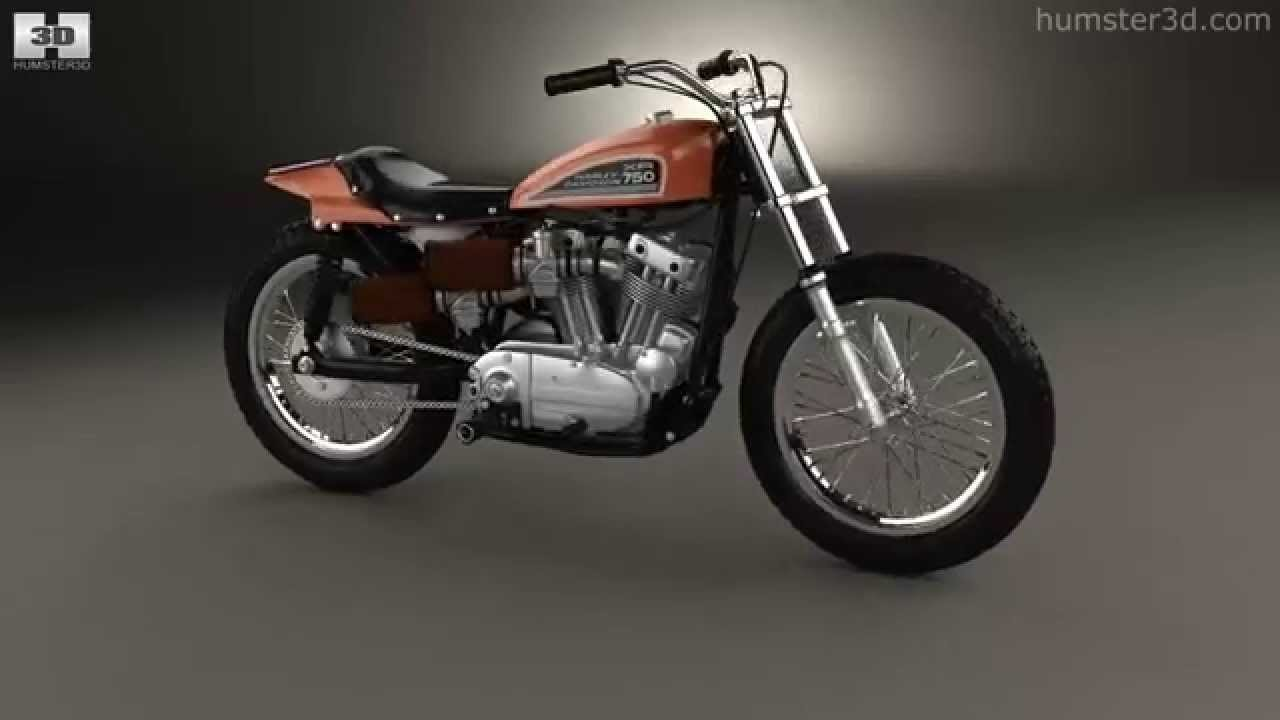 The Harley Davidson Xr 750: Harley Davidson XR 750 1970 By 3D Model Store Humster3D