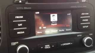 Kia UVO hard drive USB Jukebox Download MP3 / WMA  music files pt1
