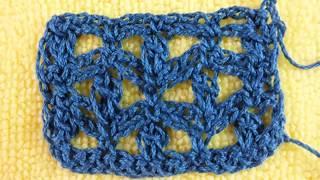 Ажурный узор вязание крючком схема