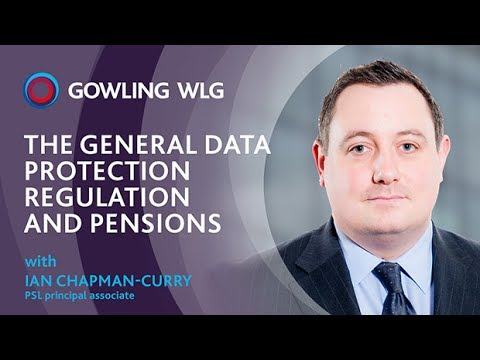 The General Data Protection Regulation (GDPR) and pensions